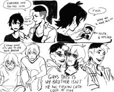 More adopted brothers adventures with keith and shiro because im still figurin out how to draw em thanks to @klanced for the asian melon bowl haircut we had to suffer through as kids