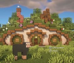 Minecraft Cottage, Cute Minecraft Houses, Minecraft Plans, Minecraft House Designs, Minecraft Tutorial, Minecraft Creations, Minecraft Crafts, Minecraft Blueprints, Minecraft Buildings