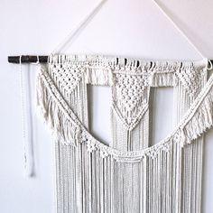 Fantastic Photo Macrame rope Suggestions If you have discovered the new macramé collection and you're simply addicted about this classic b Cotton Cord, Cotton String, Macrame Supplies, Macrame Projects, 3 Strand Twist, Suction Cup Hooks, Macrame Cord, Etsy App, Twine