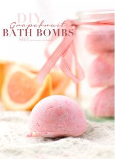 Grapefruit Bath Bomb | 12 DIY Bath Bombs | Bath Bombs Made Easy, see more at: https://diyprojects.com/diy-bath-bombs-bath-bombs-made-easy/