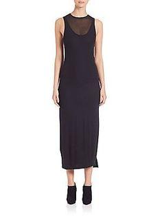 DKNY Sleeveless Black Dress - Black - Size S