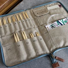 Love the case. But it's too small! ..... I would just widen this to accomodate more needles and may need to make more than one!