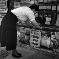 Mobilmachung 1939 Ein Kiosk in Genf, 2. September 1939. (Keystone)