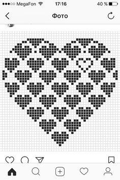 Knitted Heart, Fair Isle Knitting, Crochet Chart, Seasonal Decor, Pixel Art, Quilt Blocks, Knitting Patterns, Cross Stitch, Tapestry