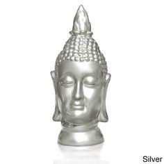 Bleek2Sheek Large Peace/ Love/ Harmony/ Relax Buddha Head Statue (Silver - Chrome Finish), Gold