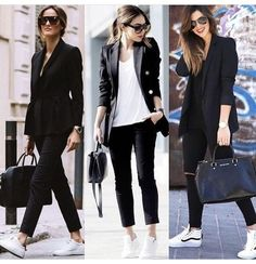 15 Great inspiration casual outfit for business woman who is simple and cool - outfits Casual Work Outfits, Business Casual Outfits, Mode Outfits, Office Outfits, Work Casual, Chic Outfits, Fall Outfits, Fashion Outfits, Business Casual Sneakers