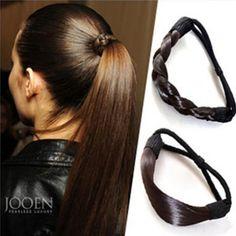 Aliexpress.com  Comprar Envío gratis muchacha de la mujer moderna estilo  coreano postizo accesorios cuerda Hairband accesorios peluca sintética  elástico ... 0a1eeaa039b7
