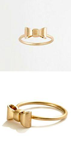 Mini bow ring // cute