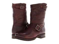 Frye Veronica Shortie Chocolate Vintage Leather - Zappos.com Free Shipping BOTH Ways