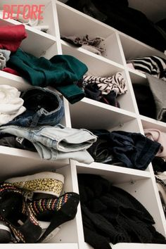 How to organize your closet for spring cleaning.