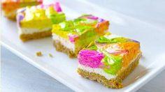 NEW No-Bake Neon Cheesecake Bars
