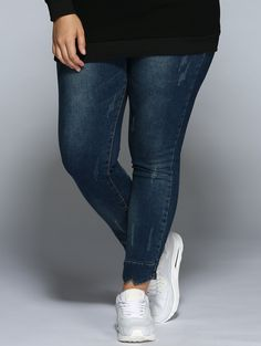 Plus Size Jeans in Denim Blue | Sammydress.com