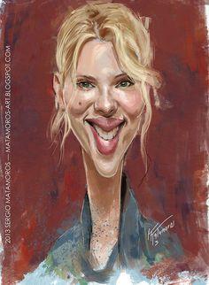 Caricatura de Scarlett Johansson.