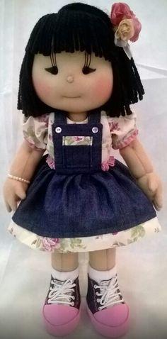 Boneca de pano japonesinha, modelo Ilma Brescia. Produzida no meu Ateliê Era uma vez...Meimei!