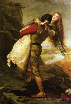 The Crown of Love - Sir John Everett Millais - Pre-Raphaelite - Romantic Painting
