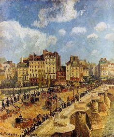The pont Neuf - Camille Pissarro