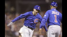 Image result for cubs beat giants 6-5