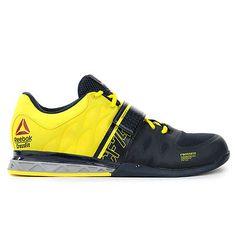 Reebok Crossfit Lifter 2.0 Navy/Yellow U-Form Lifting Shoes M45395 NEW!