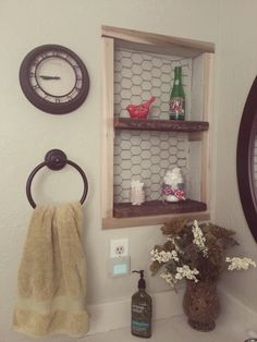 Rustic Shelving Idea In Place Of Old Medicine Cabinet E