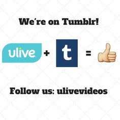 We've officially joined the #tumblr world! Check us out: http://ulivevideos.tumblr.com