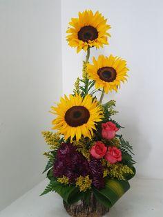 Contemporary Flower Arrangements, Tropical Flower Arrangements, Flower Arrangement Designs, Church Flower Arrangements, Funeral Arrangements, Church Flowers, Beautiful Flower Arrangements, Funeral Flowers, Tropical Flowers