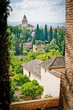 Alhambra, Granada- El palacio tiene un estilo granadino, culminación del arte andalusí a mediados del siglo XIV