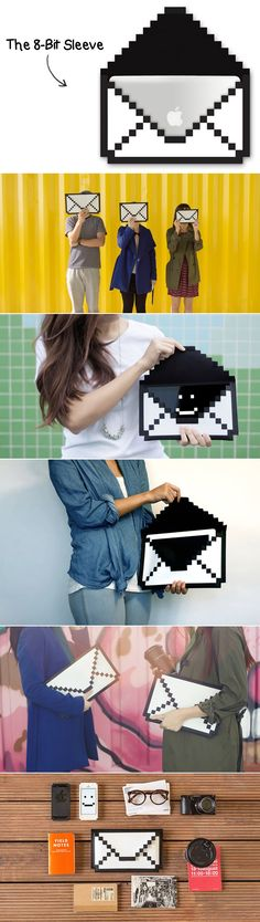 The 8 Bit-Sleeve. (Available for the iPad mini, iPad or even MacBook Air). These are so cute :)