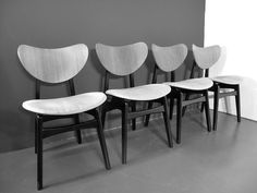 MID CENTURY 50s E GOMME G-PLAN TOLA & BLACK TEAK DINING TABLE 4 BUTTERFLY CHAIRS  