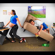 Funny Maternity Photo Idea   @Keith Jensen- #webstagram