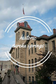 Historic Eureka Springs, Arkansas - Visit this beautiful town in the Ozarks Texas Travel, Travel Usa, Arkansas Vacations, Mississippi, Eureka Springs Arkansas, Great Buildings And Structures, Modern Buildings, Vacation Destinations, Vacation Spots
