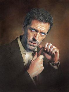 Hugh Laurie, Celebrity Drawings, Celebrity Portraits, Famous Portraits, Celebrity Caricatures, Audrey Hepburn, Bart Simpson, Simpsons Drawings, Cartoon Sketches