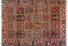 Antique Bakhtiari Carpet, 4' x 6' on OneKingsLane.com