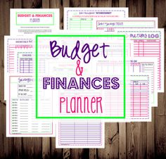 INSTANT DOWNLOAD-Budget and Finances Planner-13 Documents-Bill Organizer, Budget Printable, Budget Planner, Finance Organizer. $12.00, via Etsy.