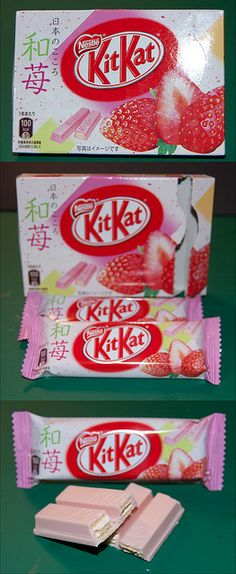 Strawberry Kit Kats??? I may be needing to take a trip out to Japan just for these
