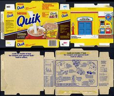Nestle Quik - Bunnytown cut-out box - Hop Shop catalog - box - 1988 | Flickr - Photo Sharing!