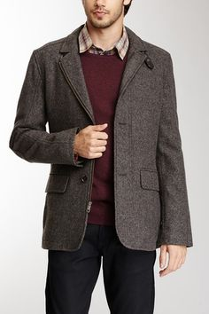 Wool Blend Herringbone Blazer on HauteLook