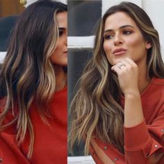 Balayage Celebrity Looks! Brown Hair Balayage, Brown Blonde Hair, Hair Color Balayage, Brunette Hair, Hair Highlights, Dark Hair, Brown Hair With Auburn, Light Brunette, Hair Color And Cut