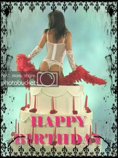 paintings of pinup coming out of a cake Happy Birthday Vintage, Happy Birthday Wishes Images, Birthday Wishes For Him, Happy Birthday Pictures, Man Birthday, Happy Birthday Cartoon Images, Birthday Qoutes, Happy B Day, Pin Up
