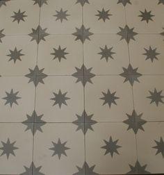 1m² Zementfliesen Fliesen Boden Fliesen Ornament Deko Altbausanierung Stern 1612
