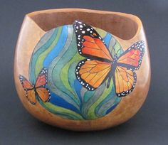 Picture        Butterfly gourd bowl by Mary Gehley