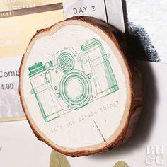 DIY Wood-Slice Magnets