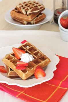 Grain Free Cashew & Coconut Flour Waffles; Guest Post From Against All Grain. (Gluten/Dairy/Refined Sugar Free)
