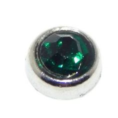 May Emerald Green Birthstone Floating Charm, for Memory Lockets, Living Floating Charm Locket