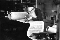 """""""Sofer the Scribe"""" ... """"Sofer,"""" from the Hebrew word meaning """"one who counts,"""" is just that – a spiritual accountant who trades in holy letters.   The sofer is the Rabbinic scribe – a religious functionary who has taken upon himself the obligation to ensure  and safeguard the accurate transmission of the Torah text from one generation to another."""" (Connects to article on subject)"""