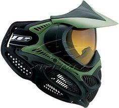 schwarz GXG Stealth Single Lens Paintball Maske