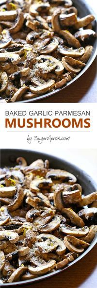 Baked Garlic Parmesan Mushrooms are so simple, no sauteing, no flipping, no watching a skillet, a little lemon zest, garlic and parmesan, and complete and tasty meal for you to enjoy it