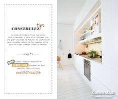 #ContruluzTips consejo #6. Algunas ideas útiles para iluminar tu #cocina www.construluz.com - info@construluz.com.ar #luces, #deco & #showroom
