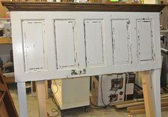 5 Panel, 90 yr old door converted into a King Size Door Headboard.