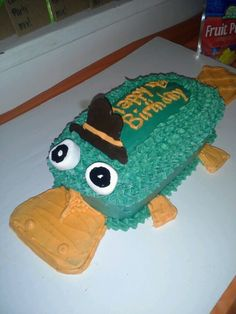 #Perry the platypus #birthday cake #Phineas and Ferb
