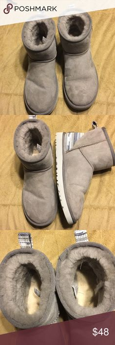 Grey short uggs Grey short uggs UGG Shoes Ankle Boots & Booties